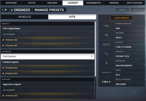 Introducing Battlefield 4 Loadout Presets - News - Battlelog