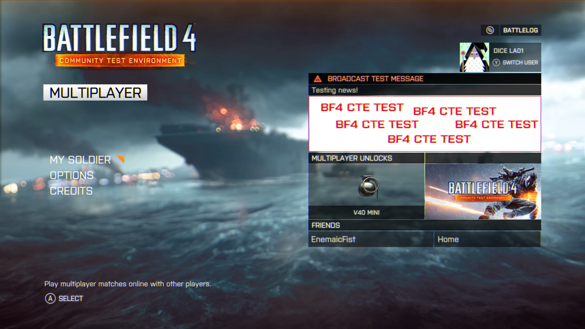 Battlefield hardline cte
