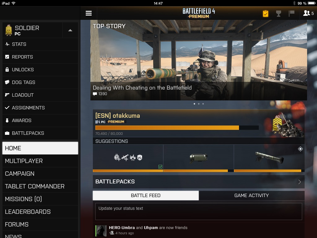 bf4 matchmaking with friends Battlefield 4 is the latest entry in a venerable franchise every match is different while you'll see a facebook-like news feed with your friends.