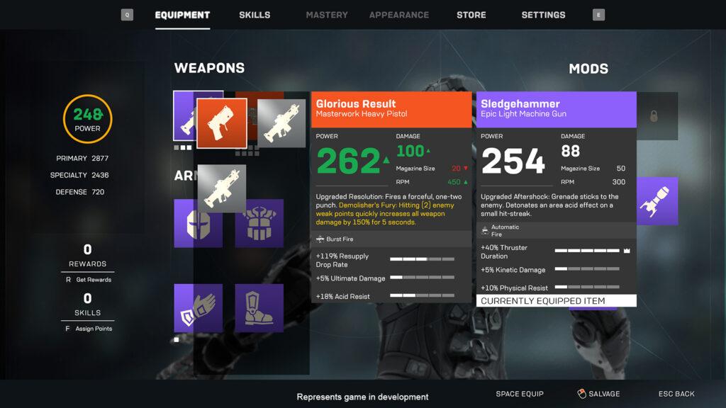 Anthem Update – Loot & Equipment Goals - Image 2