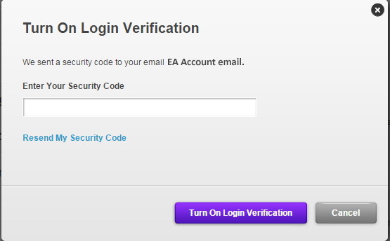 Email prompt for login verification