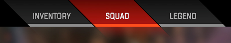 The Squad selection tab in Apex Legends.