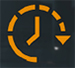 Символ, предупреждающий о высоком времени отклика во время игры.
