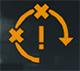 Символ, предупреждающий о нестабильном времени отклика во время игры.