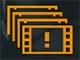 Символ, предупреждающий о низкой частоте кадров в игре.