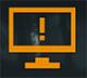 Символ, предупреждающий об ограниченной частоте обновления в игре.
