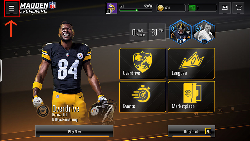 madden nfl overdrive how to find your madden nfl overdrive user id