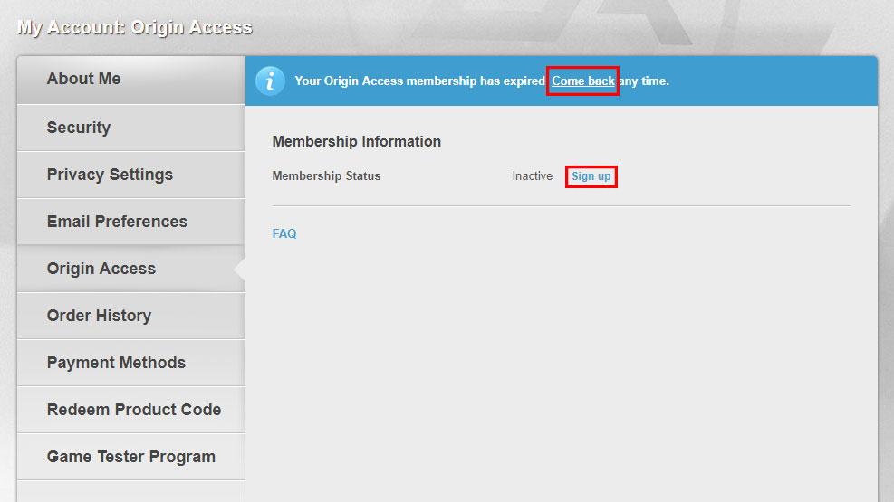Origin Access Manage Your Origin Access Membership