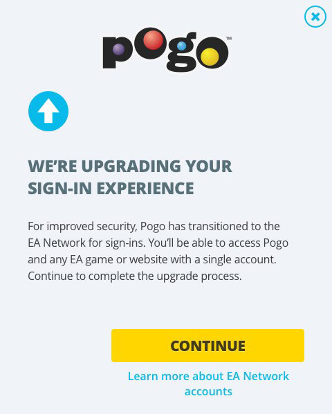 Pogo - Pogo accounts are now EA accounts
