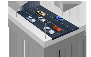 Vierspurige Straße in SimCity BuildIt.
