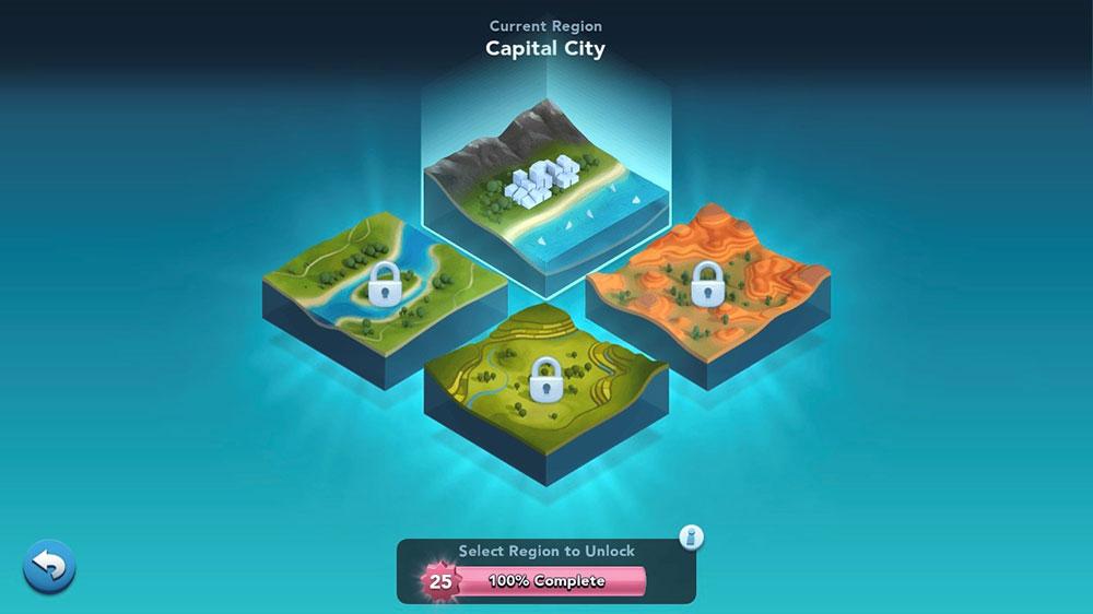 Unlock Regions Screen