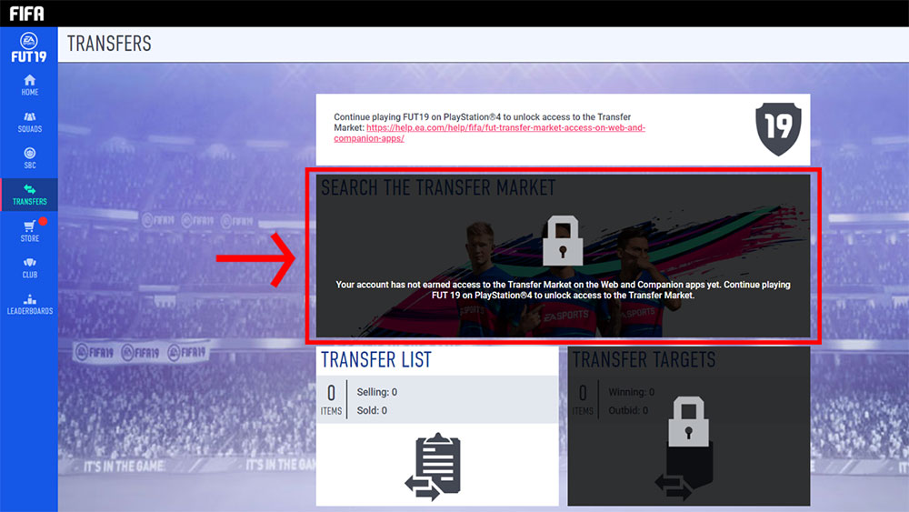 FUT Transfer Market access on Web and Companion Apps - Page