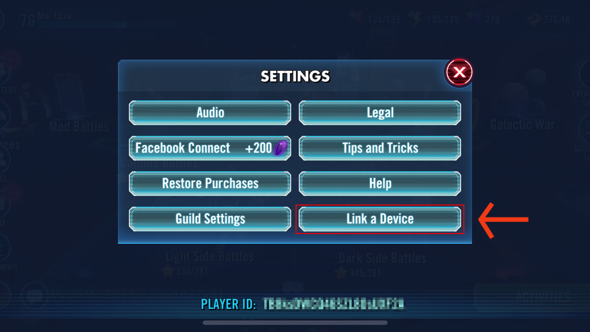 Move your Star Wars: Galaxy of Heroes account using this tool