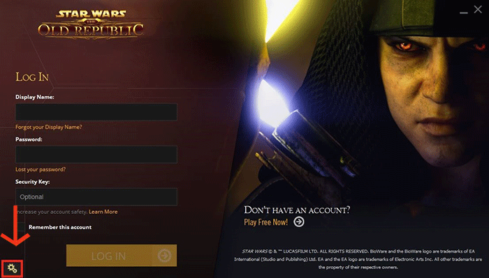 Star Wars: The Old Republic - SW:TOR launcher