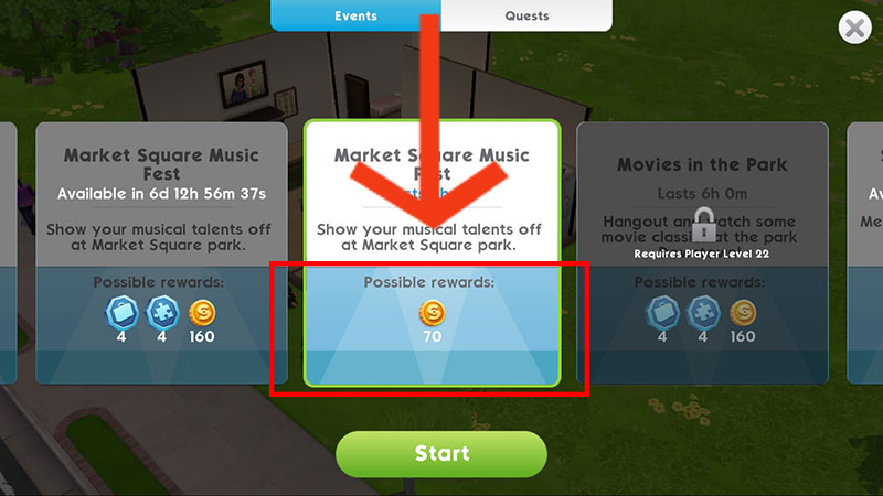 sims mobile how to cancel event