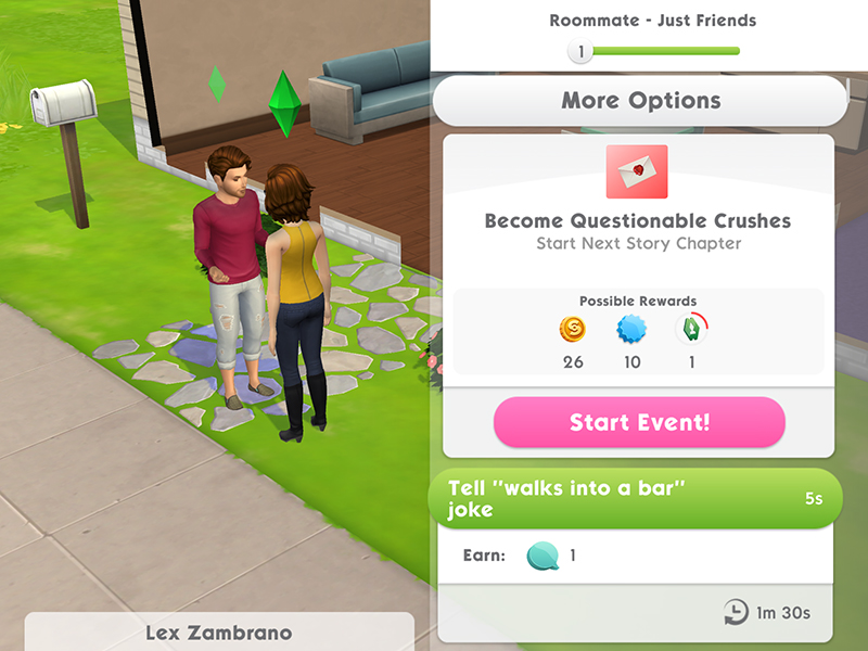 The Sims Mobile Stories In The Sims Mobile