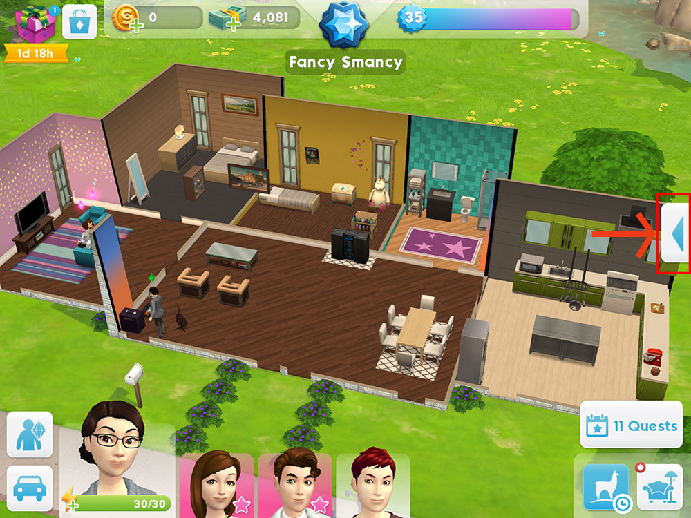 the sims mobile get help in the sims mobile